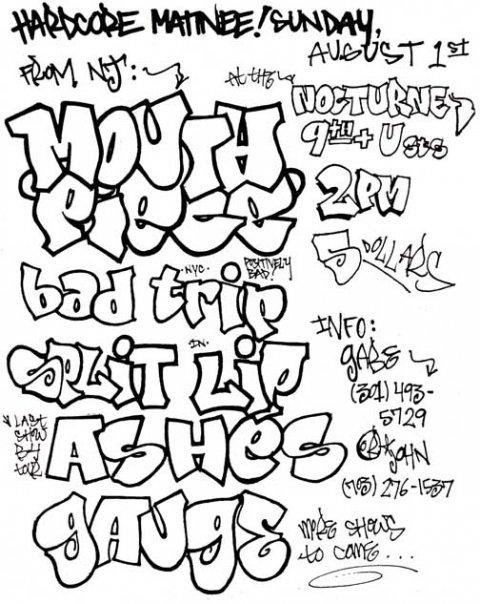 Mouthpiece-Bad Trip-Split Lip-Ashes-Gauge @ Washington DC 8-1-93