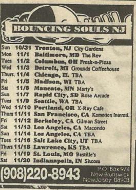 Bouncing Souls Tour 1993