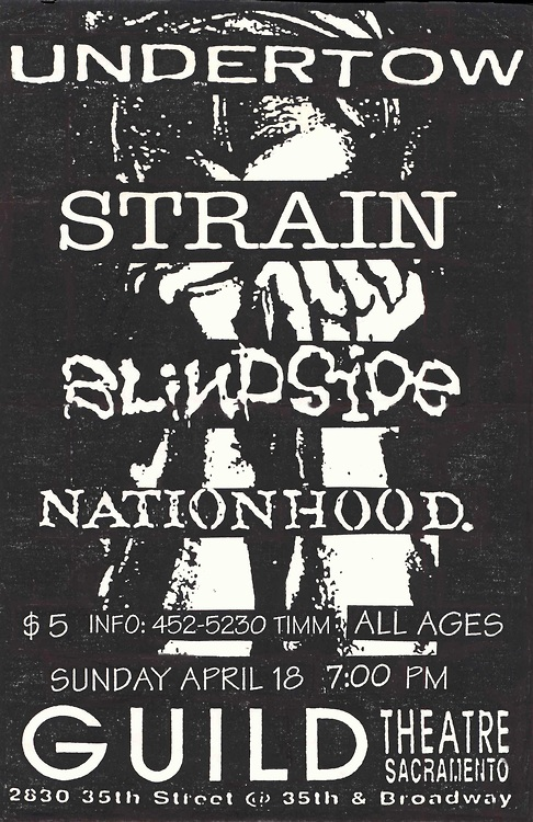 Undertow-Strain-Blindside-Nationhood @ Sacramento CA 4-18-93
