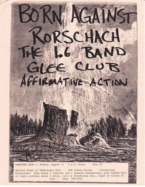 Born Against-Rorschach-1.6 Band-Glee Club-Affirmative Action @ Schenectady NY 8-11-93