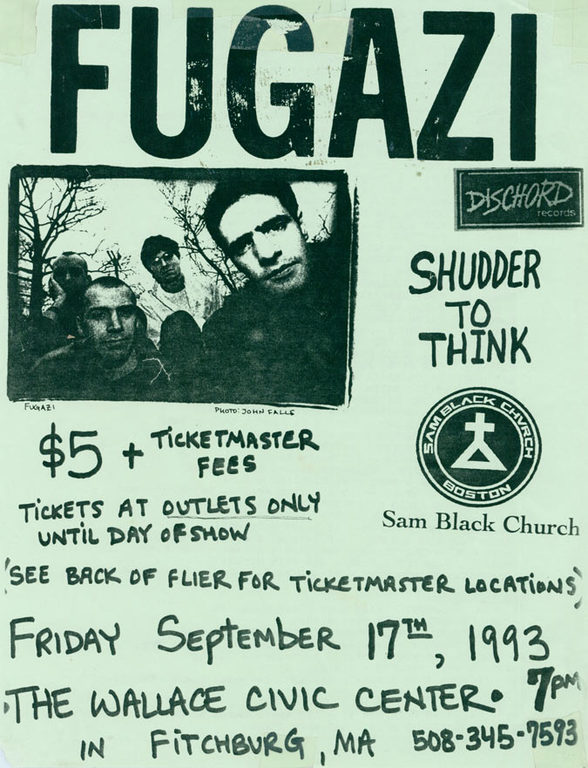 Fugazi-Shudder To Think-Sam Black Church @ Ficthburg MA 9-17-93