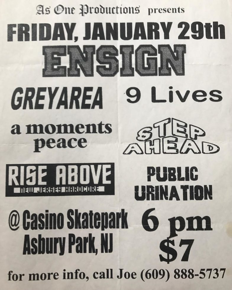 Ensign-Grey Area-9 Lives-Kill Your Idols-A Moments Peace-Step Ahead-Rise Above-Public Urination @ Asbury Park NJ 1-29-99