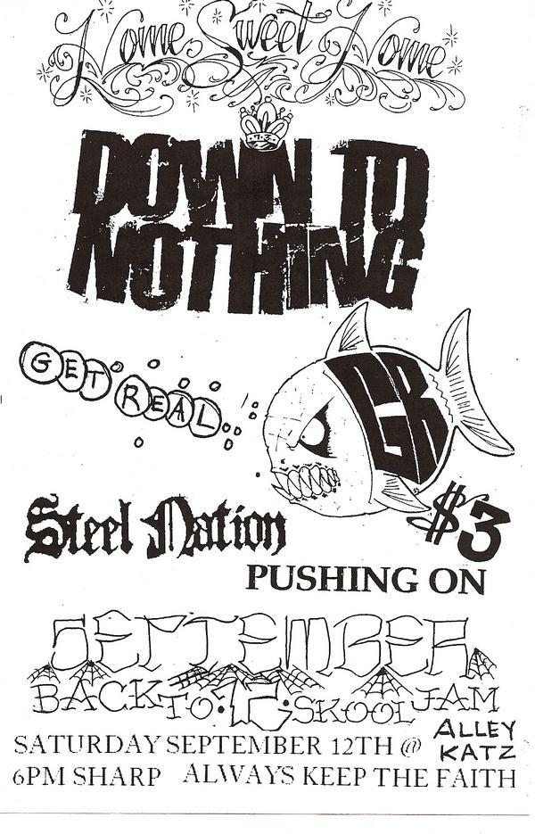 Down To Nothing-Get Real-Steel Nation-Pushing On @ Richmond VA 9-12-09