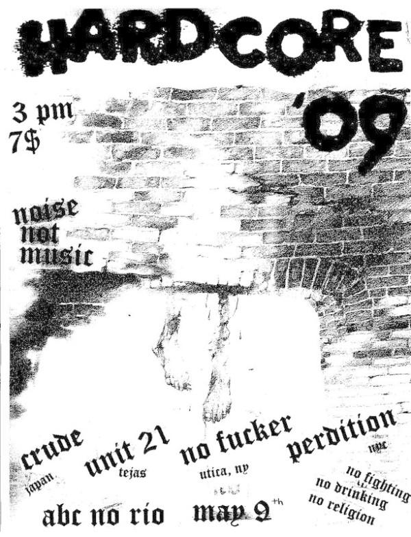 Crude-Unit 21-No Fucker-Perdition @ New York City NY 5-9-09