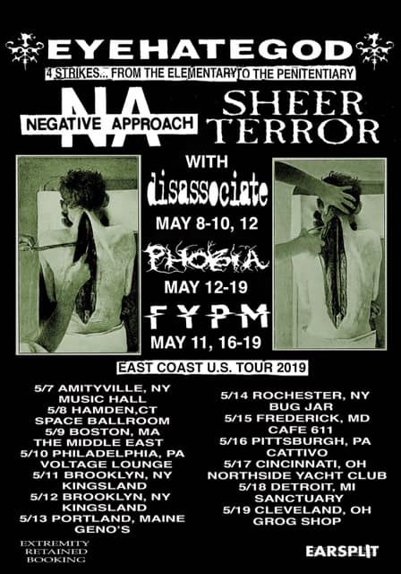 Eyehategod-Negative Approach-Sheer Terror Tour 2019