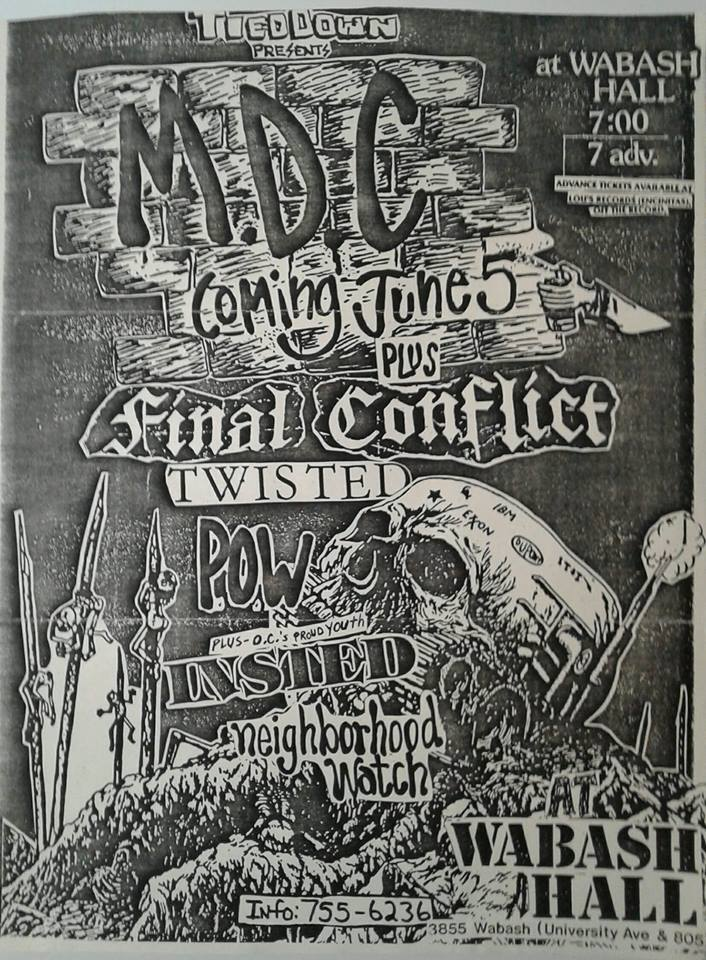 MDC-Final Conflict-Twisted-POW-Insted @ San Diego CA 6-5-UNKNOWN YEAR