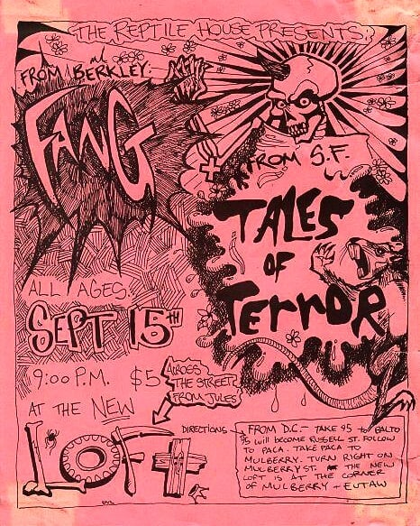 Fang-Tales Of Terror @ Washington DC 9-15-UNKNOWN YEAR