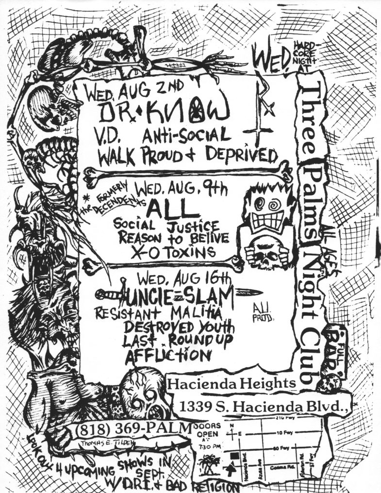 All-Social Justice-Reason To Believe @ Hacienda Heights CA 8-9-89