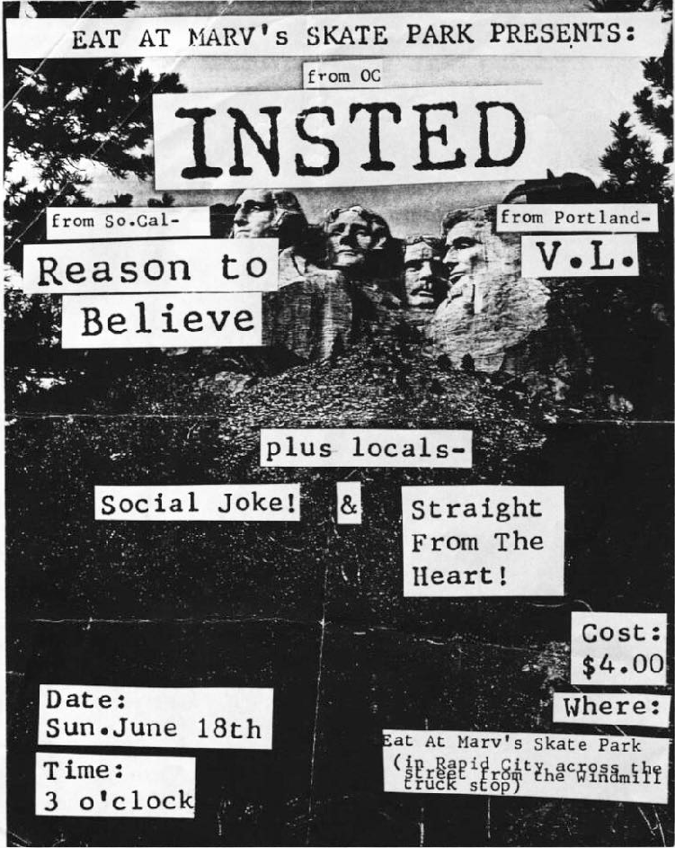 Insted-Reason To Believe-VL-Social Joke-Straight From The Heart @ Rapid City SD 6-18-89