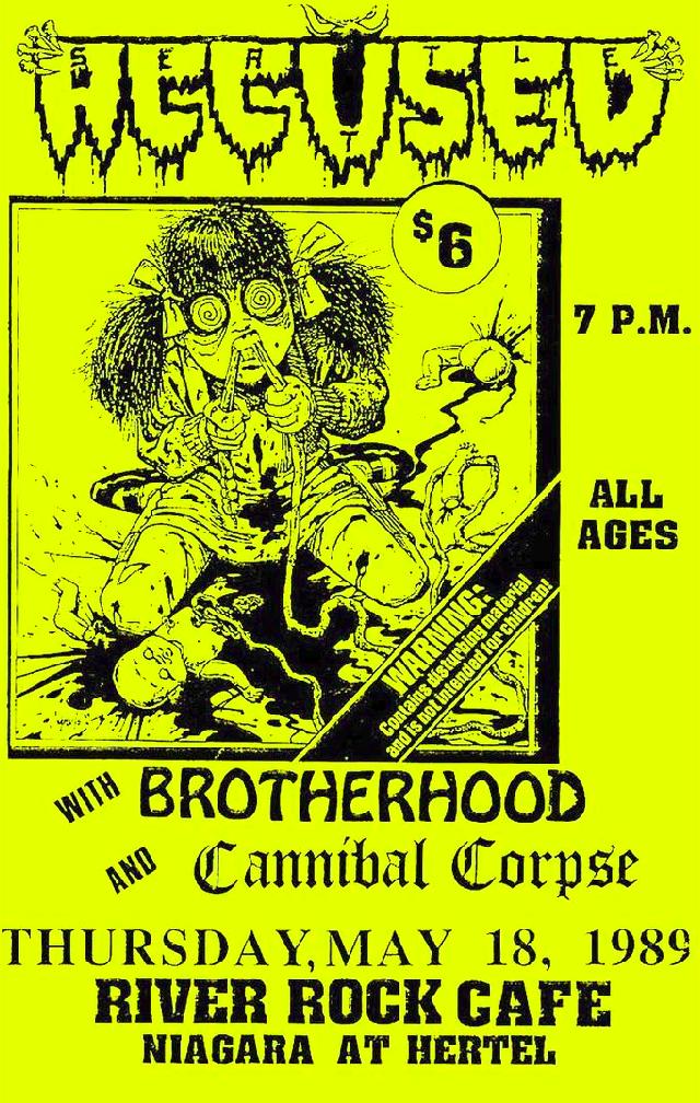 Accused-Brotherhood-Cannibal Corpse @ Buffalo NY 5-18-89