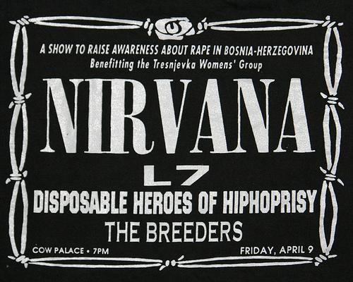 Nirvana-L7-Disposavble Heroes Of Hiphoprisy-The Breeders @ San Francisco CA 4-9-93