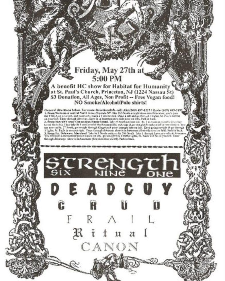 Strength 691-Deadguy-Chud-Frail-Ritual-Canon @ Princeton NJ 5-27-93