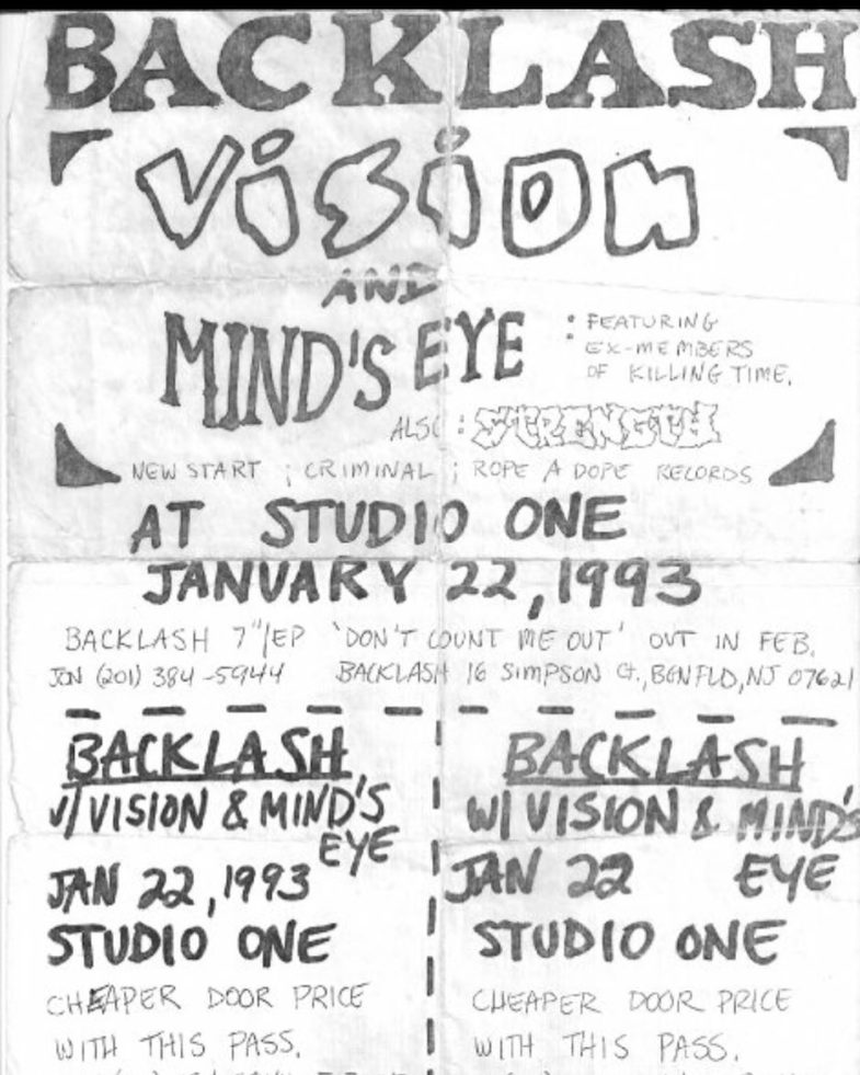 Backlash-Vision-Mind's Eye-Strength 691 @ Newark NJ 1-22-93