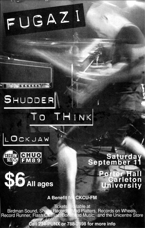 Fugazi-Shudder To Think-Lockjaw @ Ottawa Canada 9-11-93