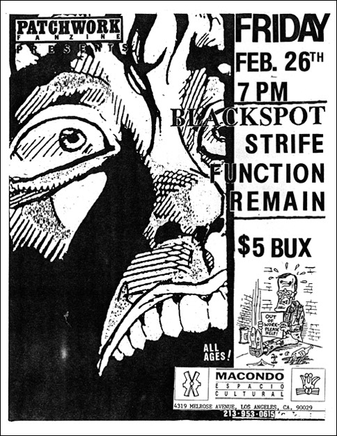 Strife-Blackspot-Function-Remain @ Los Angeles CA 2-26-93