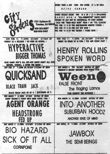 Henry Rollins @ Trenton NJ 2-17-93