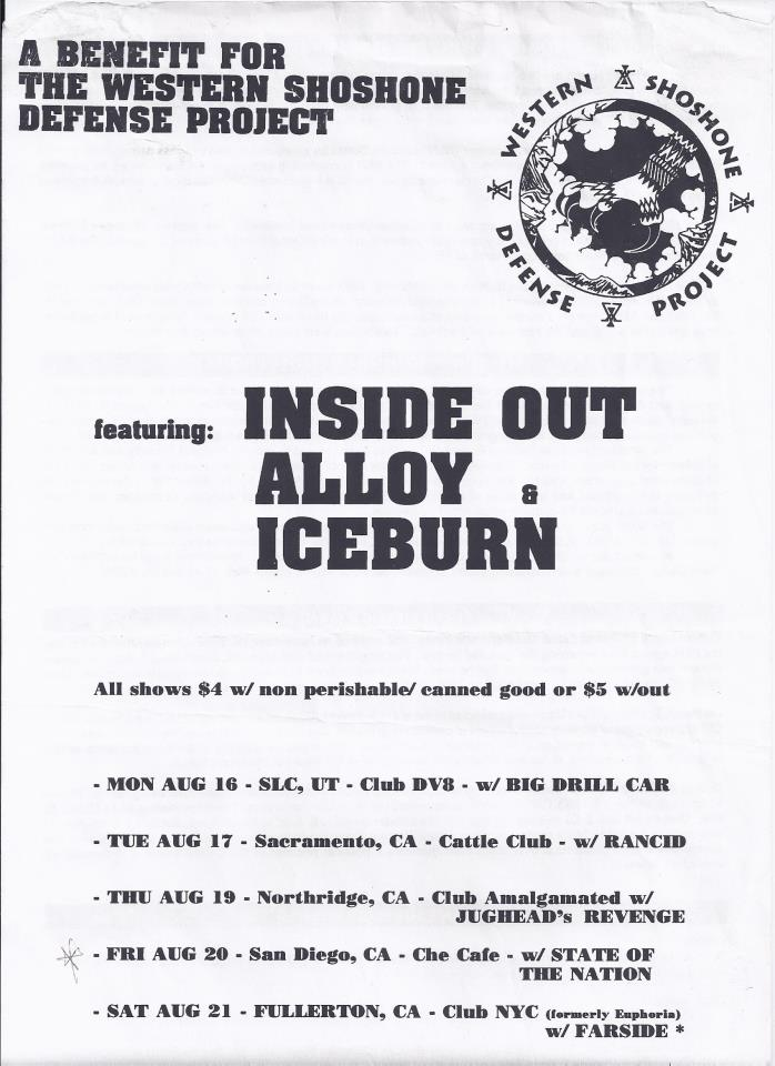 Inside Out-Alloy-Iceburn-Farside @ Fullerton CA 8-21-93