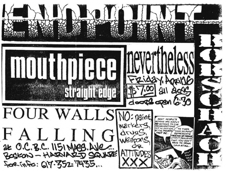 Endpoint-Rorschach-Mouthpiece-Nevertheless-Four Walls Falling @ Boston MA 4-16-93