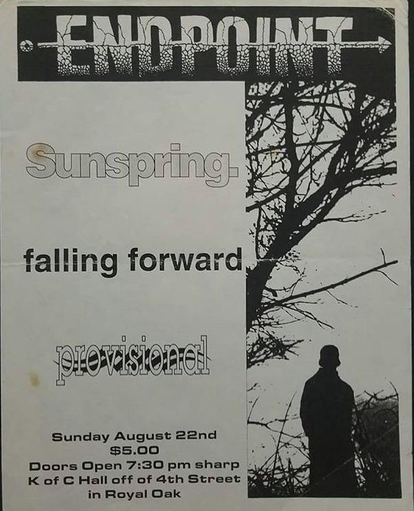 Endpoint-Sunspring-Falling Forward-Provisional @ Royal Oak MI 8-22-93