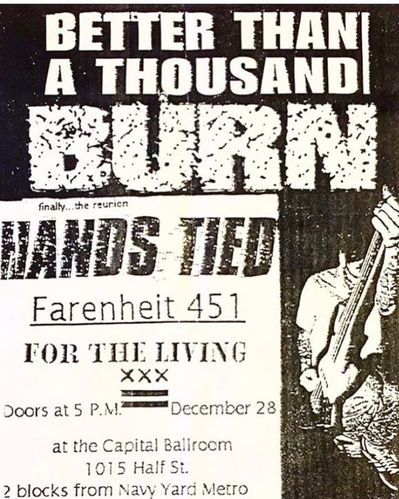 Better Than A Thousand-Burn-Hands Tied-Fahrenheit 451-For The Living @ Washington DC 12-28-97