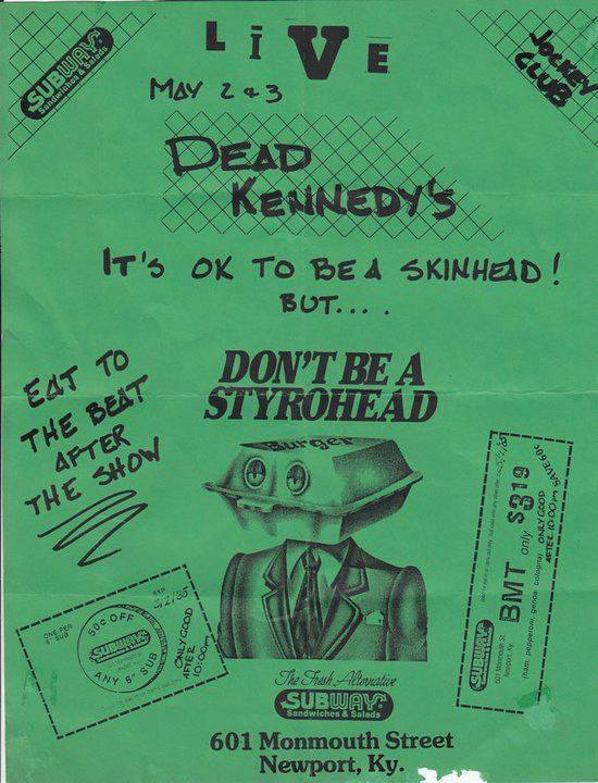 Dead Kennedys @ Newport KY 5-2-UNKNOWN YEAR