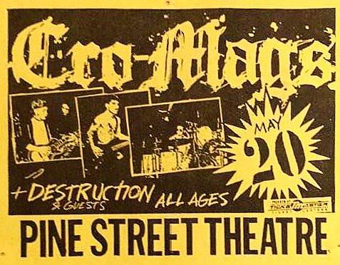 Cro Mags-Destruction @ Portland OR 5-20-89