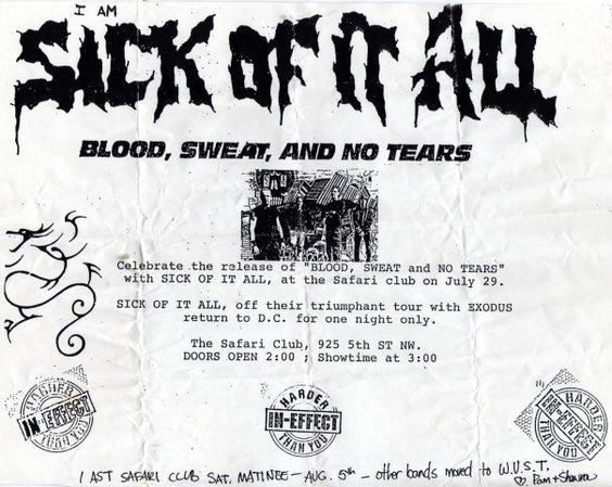 Sick Of It All @ Washington DC 7-29-89