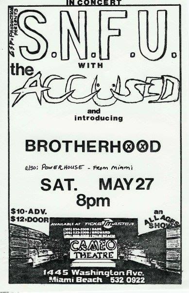 SNFU-Accused-Brotherhood @ Miami FL 5-27-89