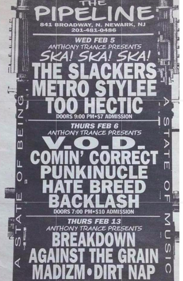 Vision Of Disorder-Commin Correct-Hatebreed-Backlash @ Newark NJ 2-6-97