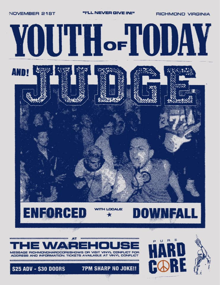 Youth Of Today-Judge-Enforced-Down Fall @ Richmond VA 11-21-19