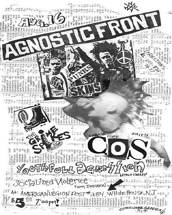 Agnostic Front-The Grime Spikes-Circle Of Shit-Youthful Aggression-Socialized Violence @ Whitehouse NJ 8-16-UNKNOWN YEAR