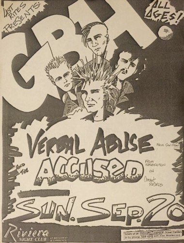 Charged GBH-Verbal Abuse-Accused @ Chicago IL 9-20-87