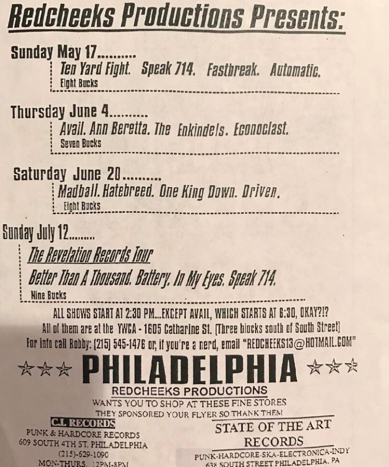 Madball-Hatebreed-One King Down-Driven @ Philadelphia PA 6-20-98