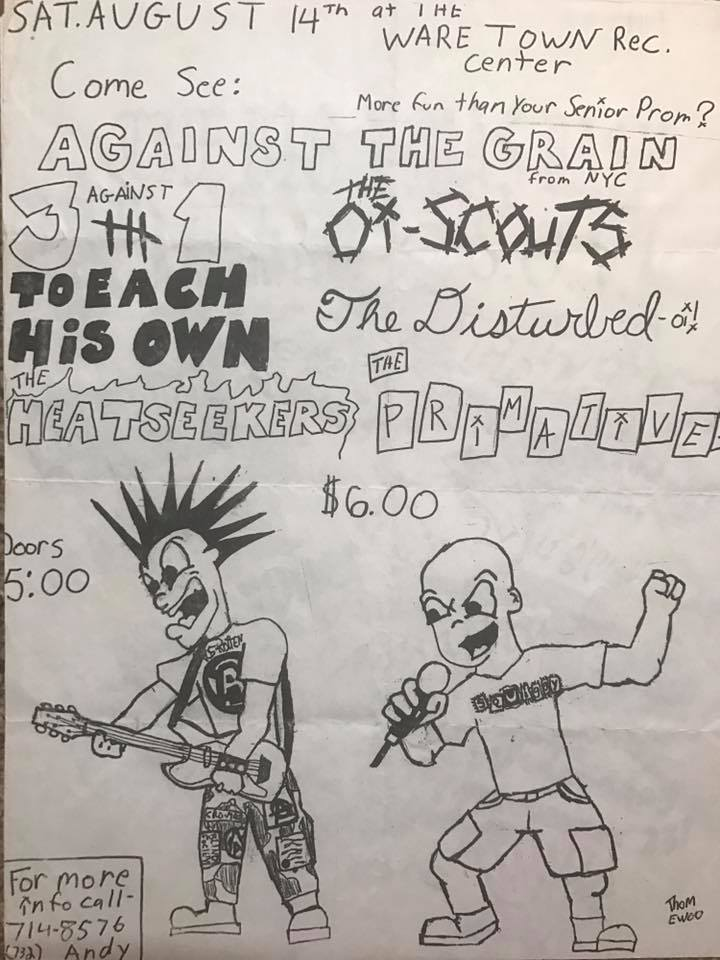 Against The Grain-Three Against One-Oi Scouts-To Each His Own-The Disturbed-Heatseekers-The Primatives @ Waretown NJ 8-14-99