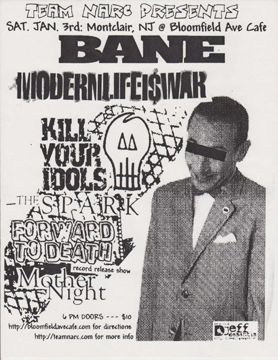 Bane-Modern Life Is War-Kill Your Idols-The Spark-Forward To Death-Mother Night @ Montclair NJ 1-3-04