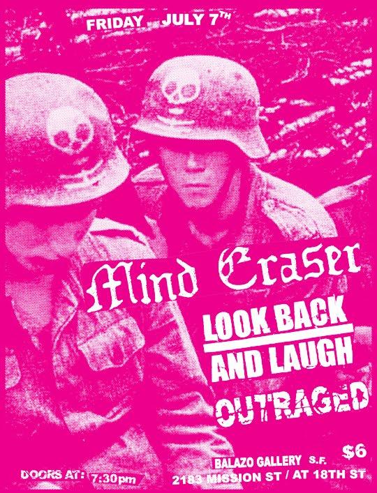 Mind Eraser-Look Back & Laugh-Outraged @ San Francisco CA 7-7-05