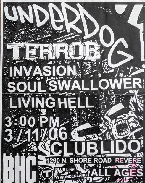 Underdog-Terror-Invasion-Soul Swallower-Living Hell @ Boston MA 3-11-06