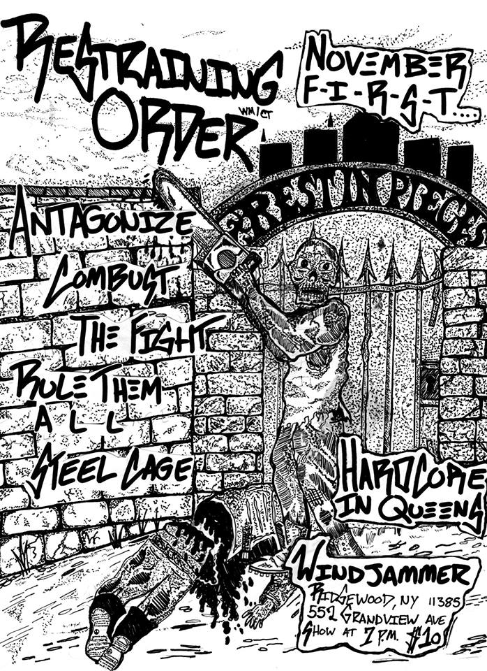 Restraining Order-Antagonize-Combust-The Fight-Rule Them All-Steel Cage @ Ridgewood NY 11-1-19