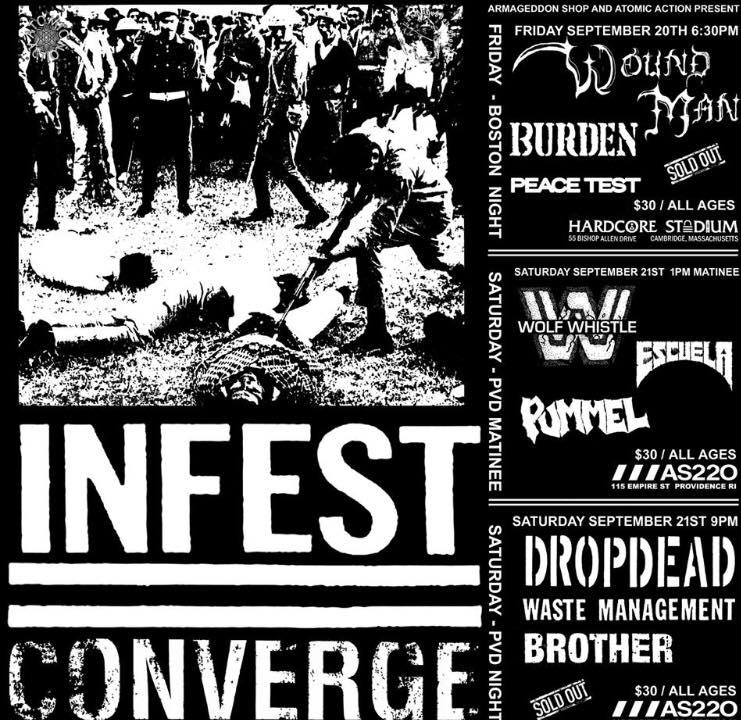 Infest/Converge Tour 2019