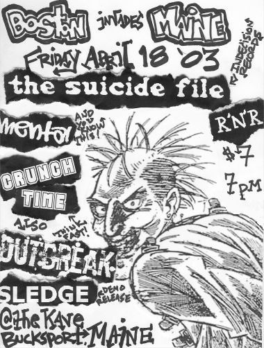 The Suicide File-Mental-Crunch Time-Outbreak-Sledge @ Bucksport ME 4-18-03