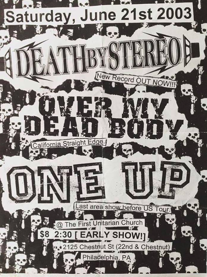 Death By Stereo-Over My Dead Body-One Up @ Philadelphia PA 6-21-03