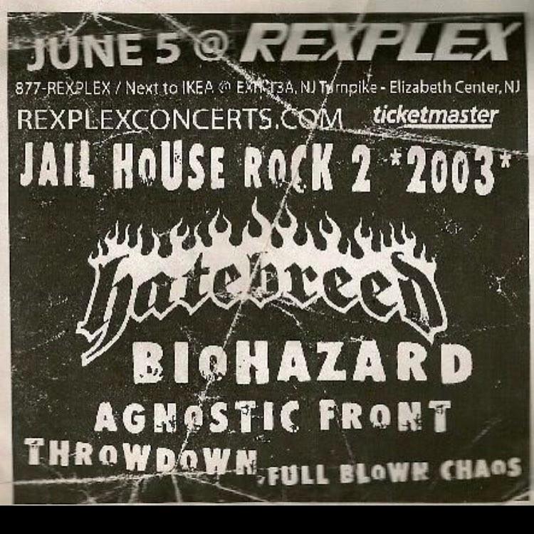 Hatebreed-Biohazard-Agnostic Front-Throwdown-Full Blown Chaos @ Elizabeth NJ 6-5-03