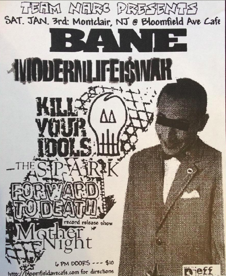 Bane-Modern Life Is War-Kill Your Idols-The Spark-Forward To Death-Mother Night @ Montclair NJ 1-3-03