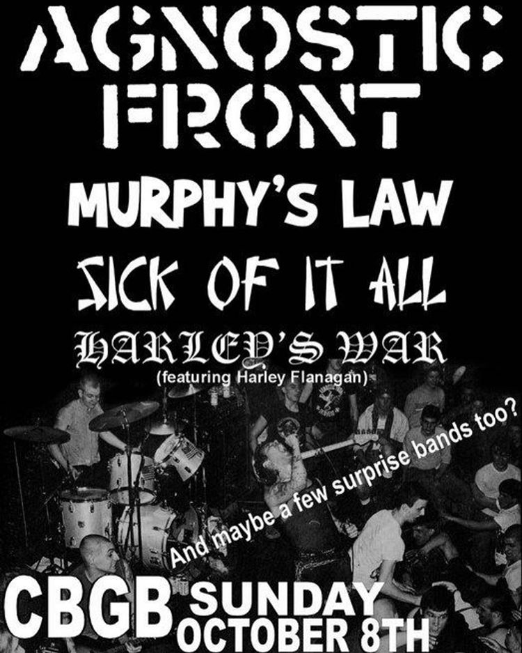 Agnostic Front-Murphy's Law-Sick Of It All-Harley's War @ New York City NY 10-8-06
