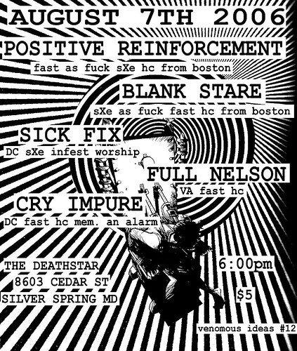 Positive Reinforcement-Blank Stare-Sick Fix-Full Nelson-Cry Impure @ Silver Spring MD 8-7-06