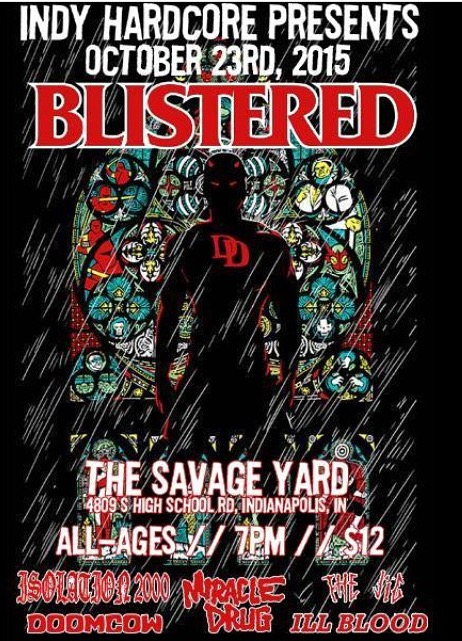 Blistered-Doom Cow-Miracle Drug-Ill Blood @ Indianapolis IN 10-23-15