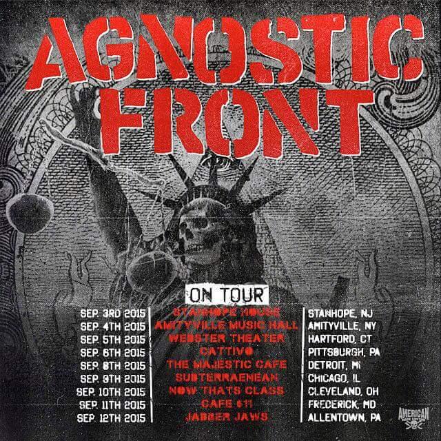 Agnostic Front Tour 2015