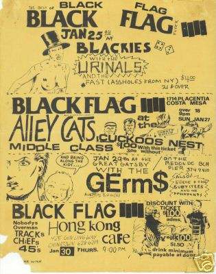 Black Flag-Alley Cats-Middle Class @ Costa Mesa CA 1-27-80