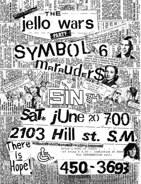 Symbol 6-Sin 34 @ Los Angeles CA 6-20-80