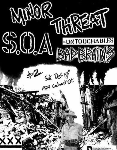 Minor Threat-State Of Alert-Untouchables-Bad Brains @ Washington DC 12-13-80